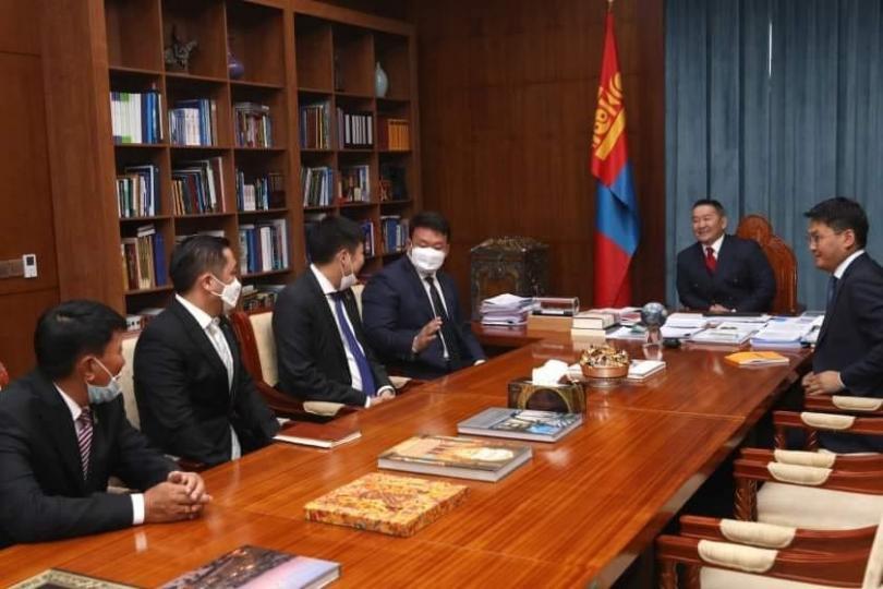 Монгол Улсын Ерөнхийлөгч Х.Баттулга Монголын үндэсний олимпын хорооны удирдлагыг хүлээн авч уулзлаа