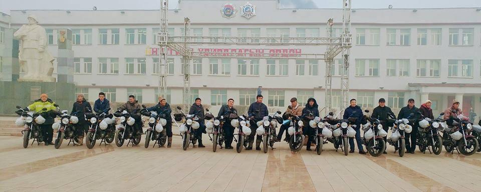Баянхонгор аймгийн ХХААГ 20 мотоциклтой  боллоо