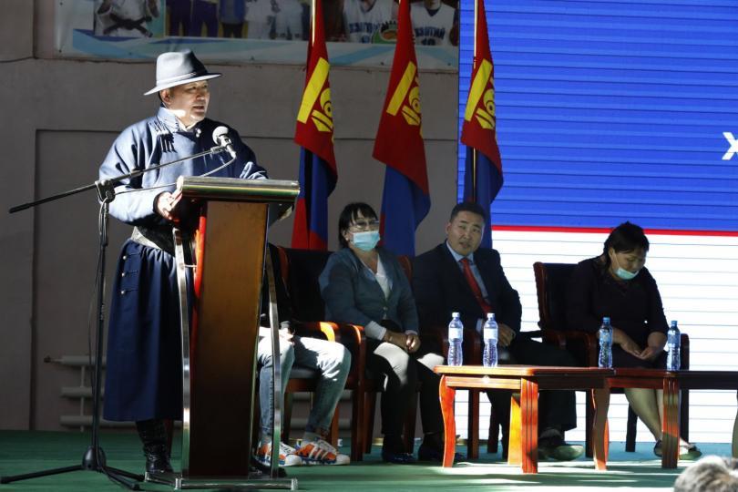 Монгол Улсын Ерөнхийлөгч Х.Баттулга Хэнтий аймгийн иргэдтэй уулзлаа