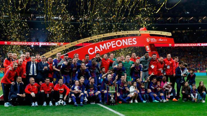 Барселона Испанийн цомд 4 жил дараалан түрүүллээ