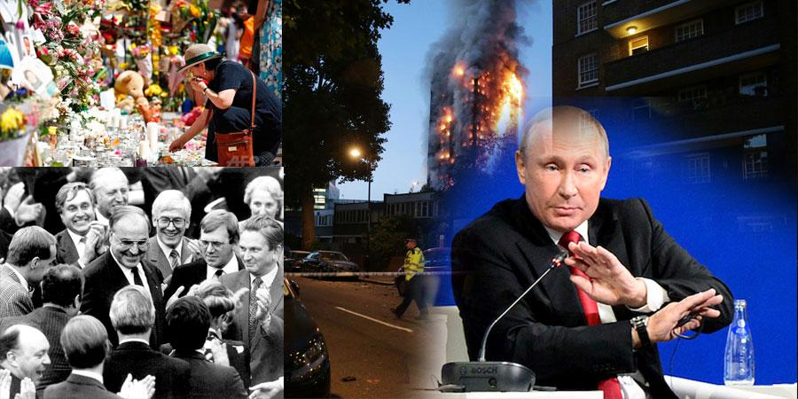 """Лондонгийн барилгад гал гарч, В.Путин иргэдтэйгээ """"шууд ярилцсан""""  долоо хоног"""