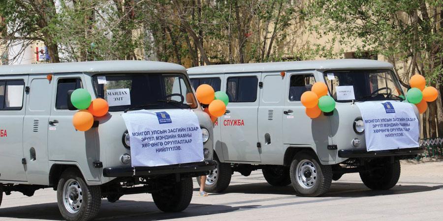 Дорноговь аймгийн сумдын Эрүүл мэндийн төвд шинэ машин өгчээ