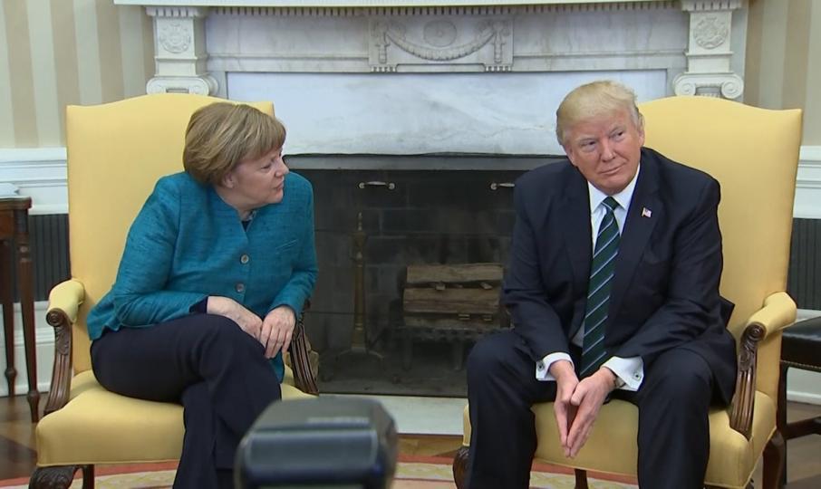 Дональд Трамп, Ангела Маркельтай гар барихаас татгалзлаа /ВИДЕО/