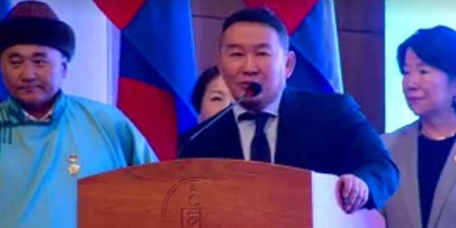 Монгол Улсын Ерөнхийлөгч Х.БАТТУЛГА #УРБАН_ЖИЙНС-ээр гоёно