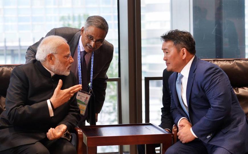 Ерөнхийлөгч Х.Баттулгад БНЭУ-ын Ерөнхий сайд Н.Моди бараалхлаа
