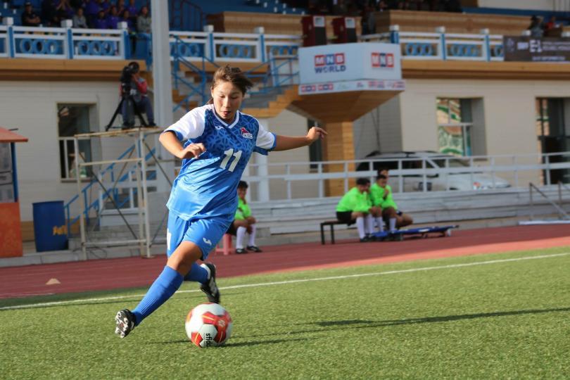 Монголын хөлбөмбөгийн эмэгтэйчүүдийн баг анхны хожлоо авлаа