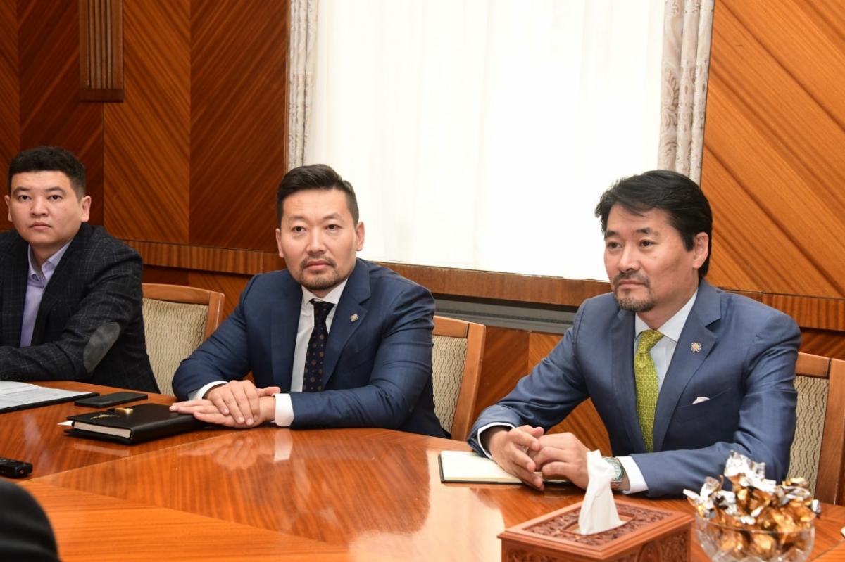 УИХ-ын гишүүн Г.Амартүвшин, Х.Ганхуяг нар Казахстан Улсаас Монгол Улсад суугаа Элчин сайдыг хүлээн авч уулзлаа