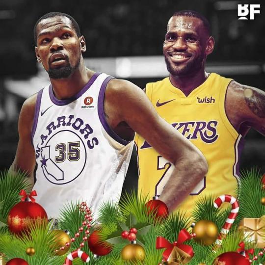 Зул сарын баяраар Голдэн Стэйт Уорриорс, Лос Анжелес Лейкэрс багууд тоглоно