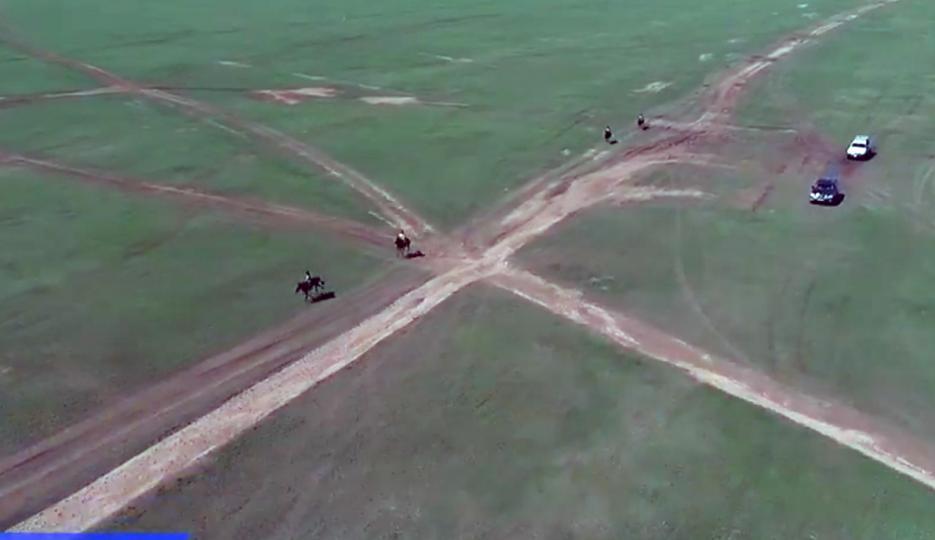 Говь-Алтай аймгийн Халиун сумын харьяат Г.Чинзоригийн хар үрээ түрүүллээ