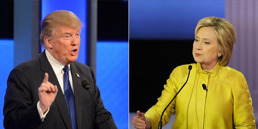 Хиллари, Трамп нарыг дэмжигчдийн хувь тэнцлээ
