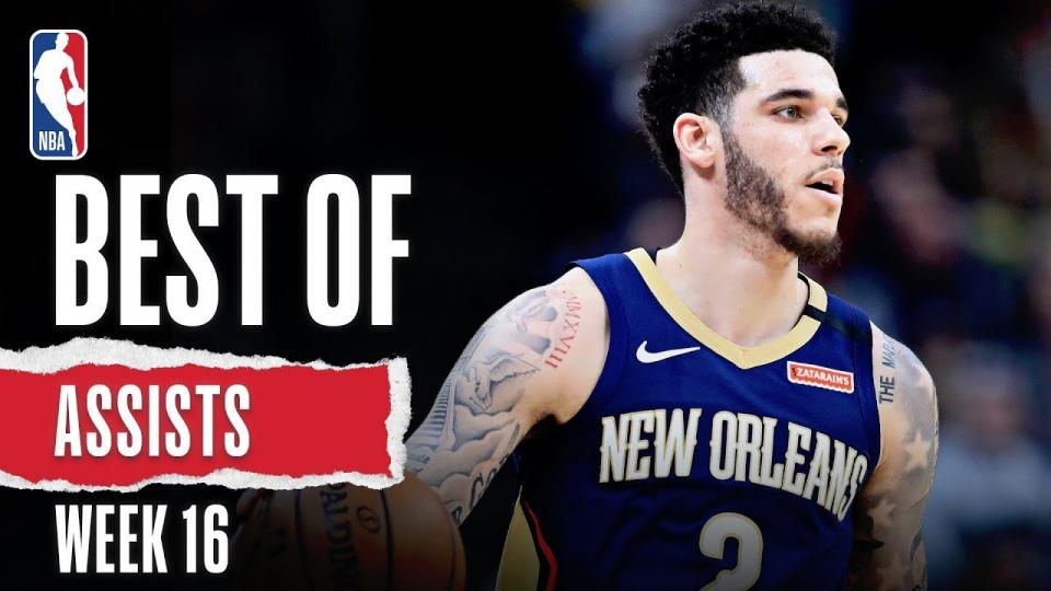 NBA-гийн 16 дахь долоо хоногийн шилдэг дамжуулалтын бичлэг