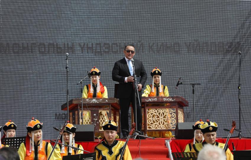 Ерөнхийлөгч Х.Баттулга Үндэсний кино үйлдвэрийн шав тавих ёслолд оролцлоо