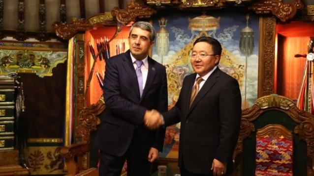 Ерөнхийлөгч Ц.Элбэгдорж Болгар Улсын Ерөнхийлөгч Росен Плевнелиевтэй уулзлаа
