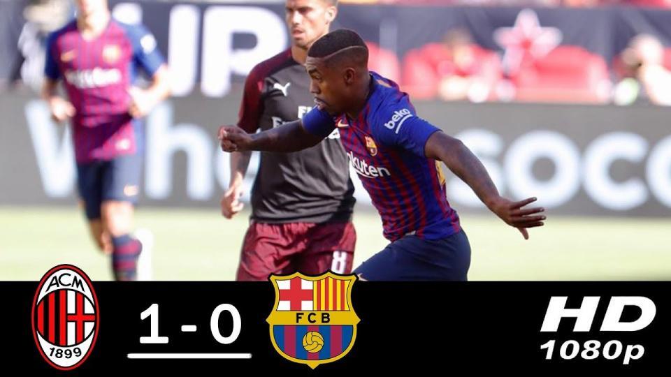 Милан Барселонааг хожлоо