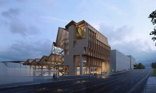 """Ирландын """"grafton architects"""" студи АНУ-д модоор гайхалтай уран барилга барьж байна"""
