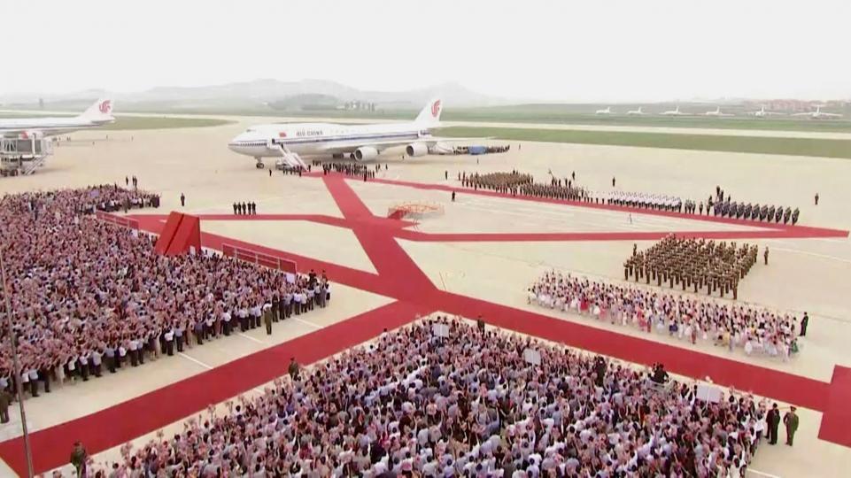 Умард Солонгост Ши Жиньпиний хийх айлчлал эхэллээ