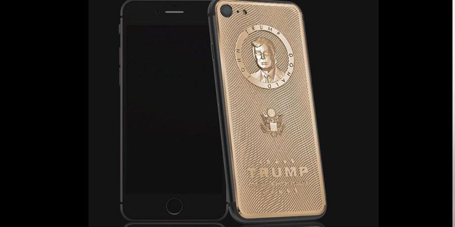 Доналд Трампын хөрөгтэй алтан I phone гарчээ