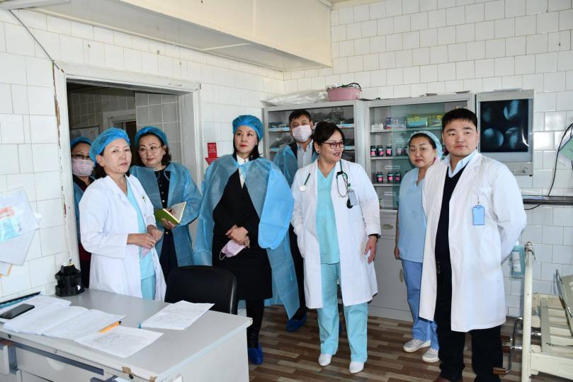 Эрүүл мэндийн дэд сайд Багануур дүүргийн эмнэлгүүдэд ажиллалаа