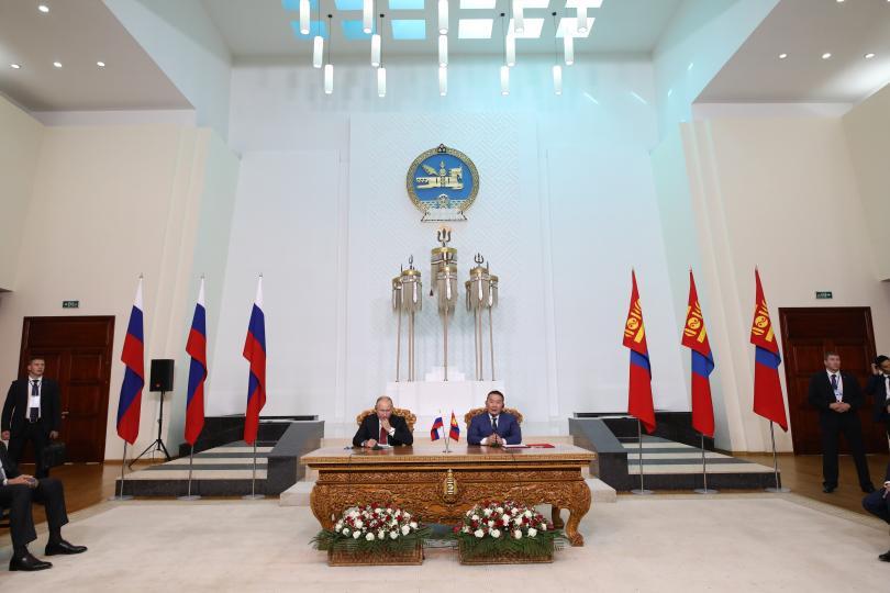 ОХУ-ын Ерөнхийлөгч В.В.Путин нар айлчлалыг дүгнэн мэдээлэл хийв