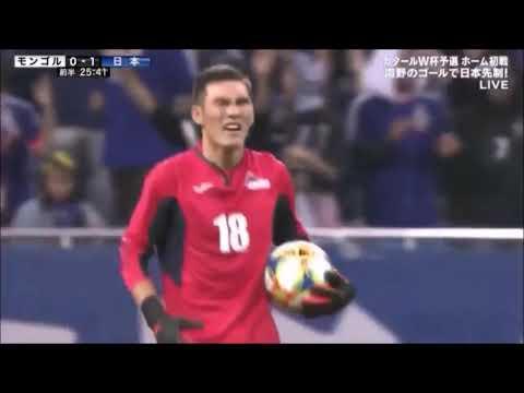 Шигшээгийнхээ хаалгач Б.Ариунболдын Японы багт үзүүлсэн тоглолтоос түүвэрлэв