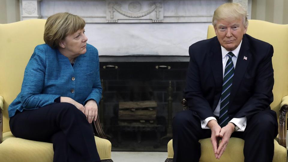 А.Меркель Д.Трамптай анх удаагаа уулзлаа